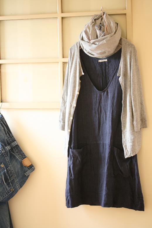 インディゴリネンのジャンパースカート