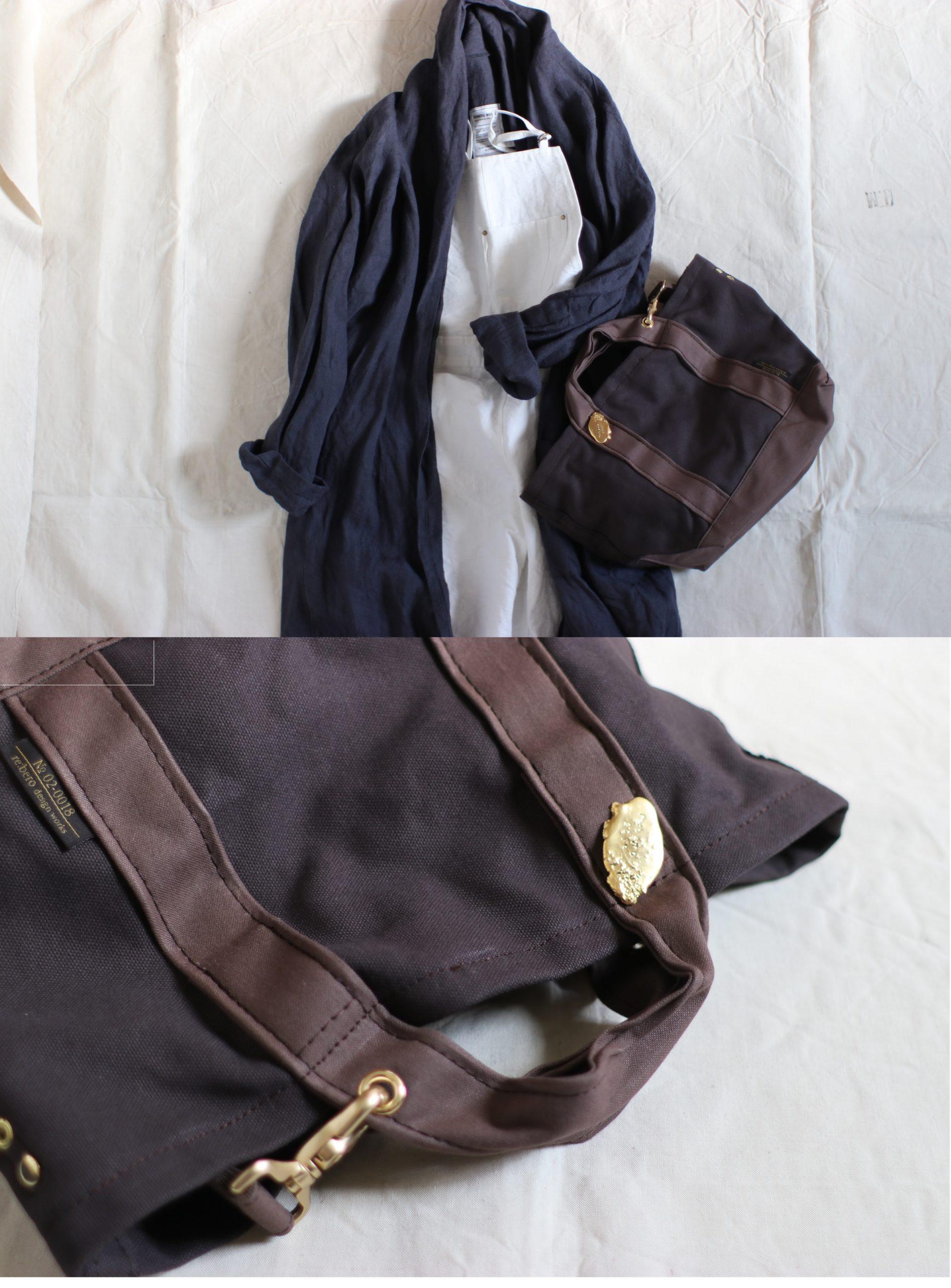 【linenu works in TRUNKエフ・ベース】大人のためのサロペットに似合うbag/和歌山から!